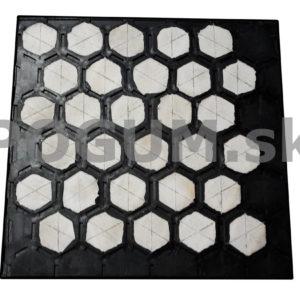 Gumo keramické materiály - šesťuholníkový profil